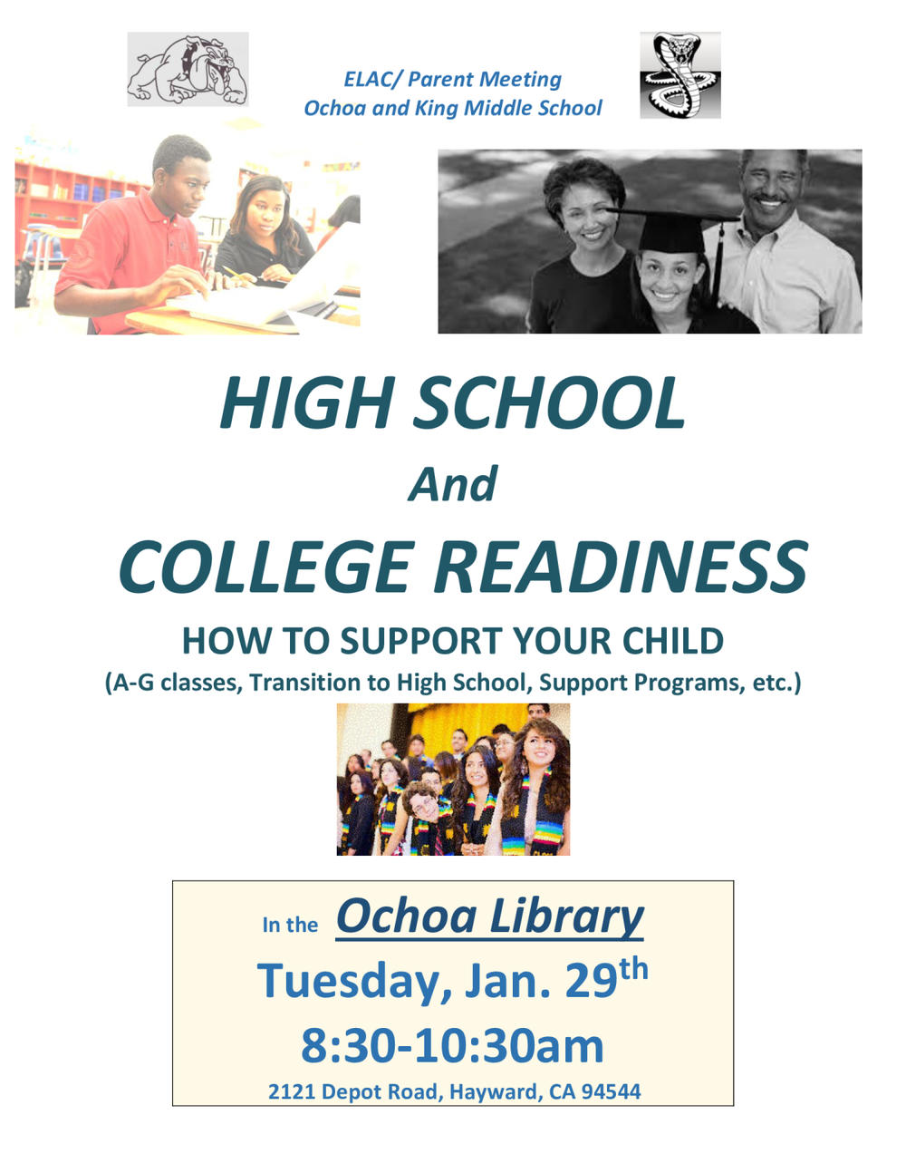 elac parent meeting high school prep